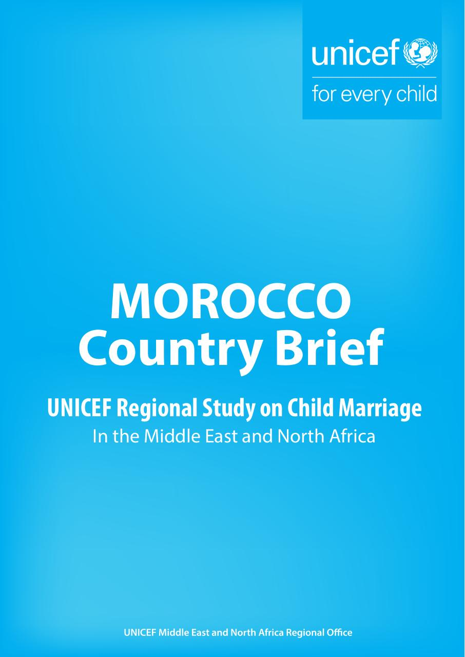 Morocco Child Mariage Final Edited Fichier Pdf