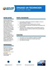 Fichier PDF offre d emploi technicien