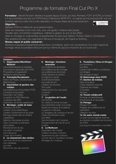 programme formation fcpx