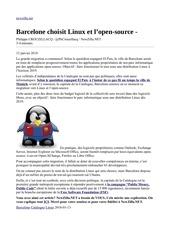 barcelone choisit linux