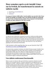 linux sur switch double