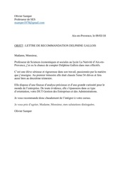 lettre recommandation delphine gallois