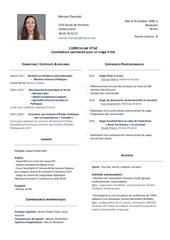 curriculum vitae fr
