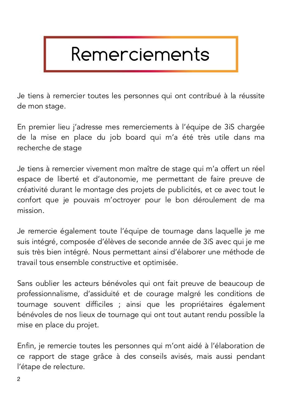Rapport De Stage Rapport De Stage Test 1 Pdf Fichier Pdf