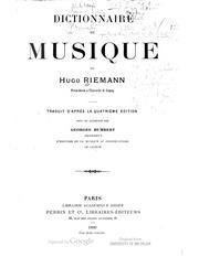 riemann humbert dictionnaire de musique 1899