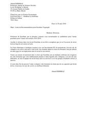 lettre de recommandation 1