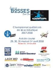 avis de course champ quEbEcois 2018 rEv 01
