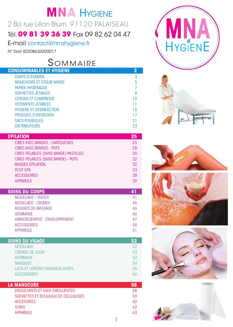Catalogue MNA HYGIENE ESTHETIQUE.pdf - page 3 66 7fc822d97f8d