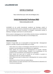 offre d emploi assistant e technique retd lan 03 2018