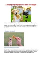 Fichier PDF conseils photo
