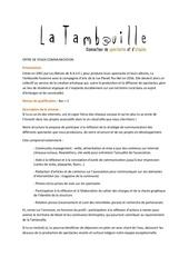offre de stage communication tambouille 18