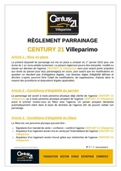 reglement parrainage century 21 villeparimo