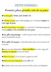 conseil beaute pdf