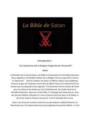 Fichier PDF la bible de satan