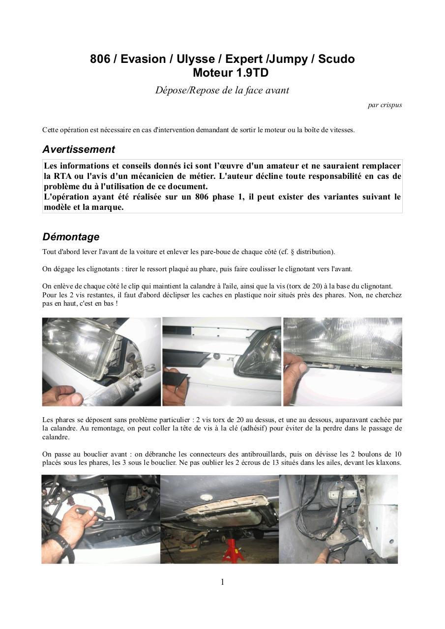 Dévisser Une Vis Sans Tête 806 tuto face avant - fichier pdf
