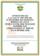 annexe fiscale 2018 version modifiee par ordonnance 1
