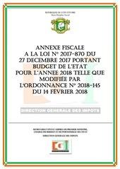 annexe fiscale 2018 version modifiee par ordonnance