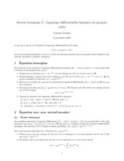 dm ts equations differentielles lineaires