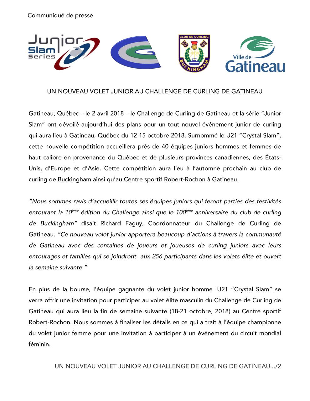 Challenge and Crystal Slam Press   Release French.pdf - page 1/2