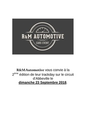 track day abbeville 23septembre 2018