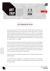 Fichier PDF appel a candidature art trip 2018