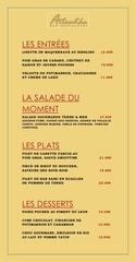menu restaurant brest