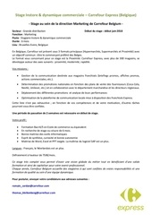 Fichier PDF stage marketing carrefour belgique