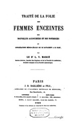 Fichier PDF traite de la folie des femmes enceintes