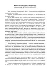abaixo assinado contra mudanca do estatuto