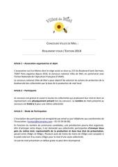 Fichier PDF reglement villes de miel