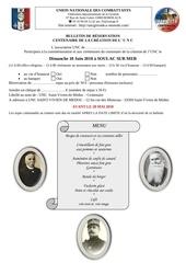 bulletin reservation centenaire de la creation de l 1