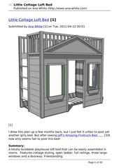 little cottage loft bed