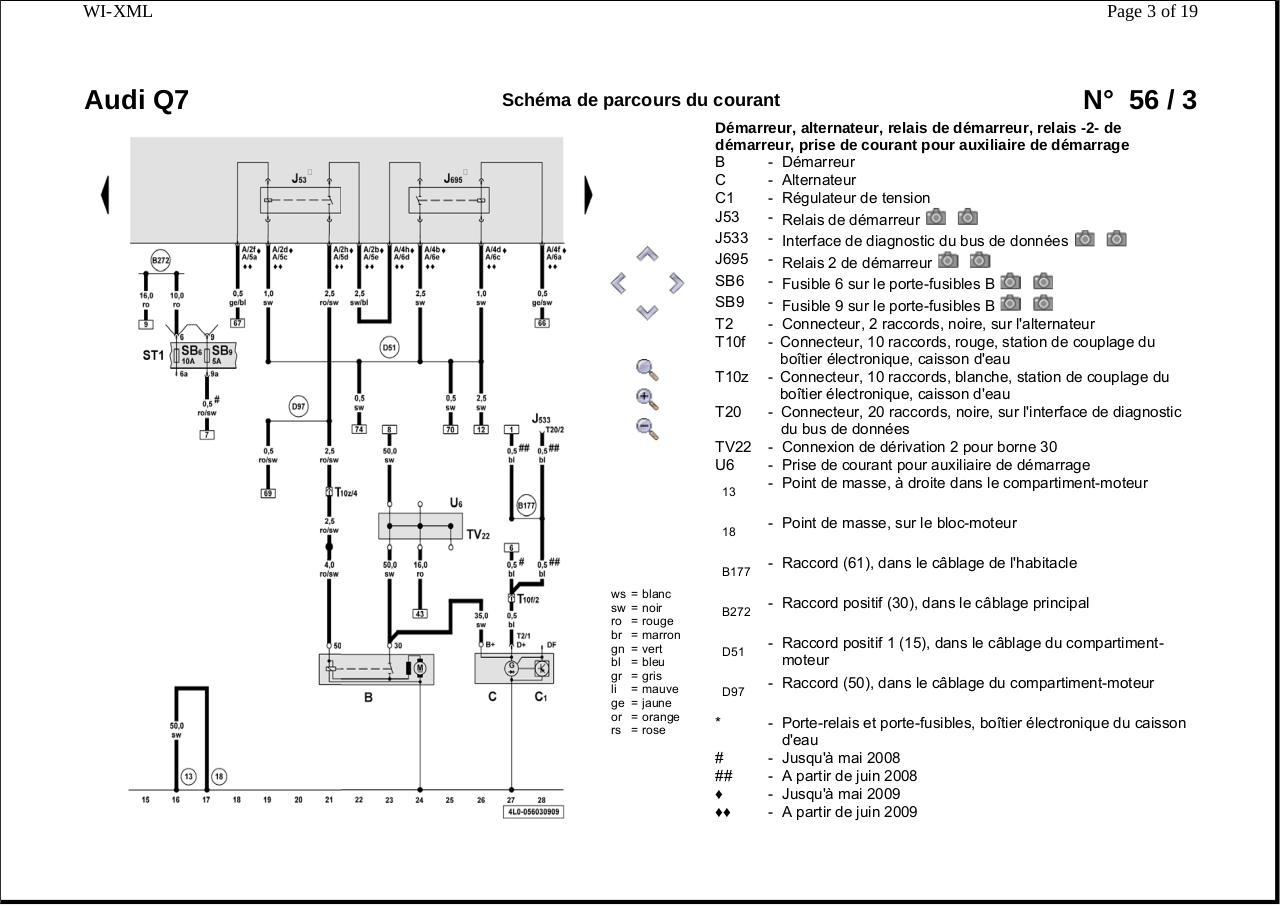 sch u00e9mas fusibles relais calculateurs audi q7 4lb par frex par admin