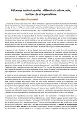 reformes institutionnelles 03 2018