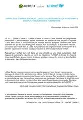 cp garnier x unicef 2018