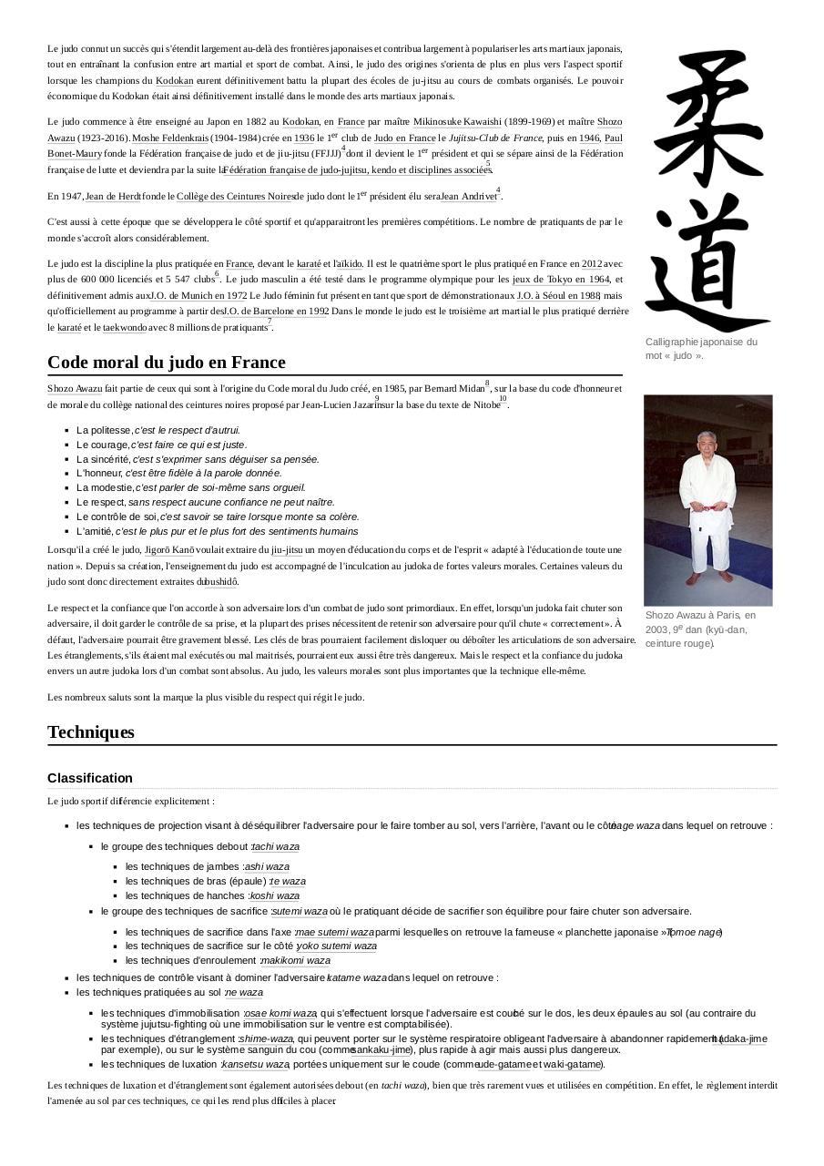Judo - Fichier PDF