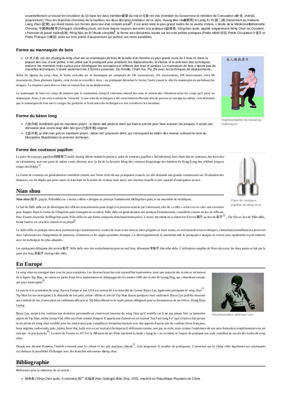 Wing Chun Fichier Pdf
