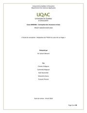 rapport projet adaptation de hotel luxor