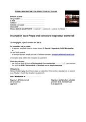 Fichier PDF formulaire inscription inspecteur du travail