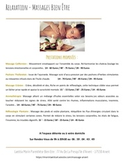 Fichier PDF massages liste