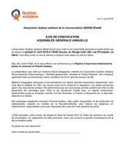 convocation aga qs abitibi ouest 2018