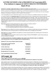 lettre ouverte president rpa
