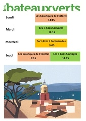 semaine du 16 avril calendrier excursions