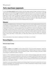 Fichier PDF arts martiaux japonais