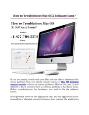 how to troubleshoot mac os x software issue docx