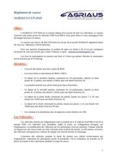 Fichier PDF reglement de course ag cup 2018