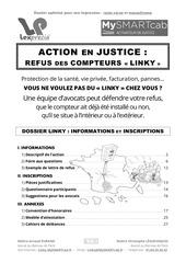 dossier refus linky action en justice lepage