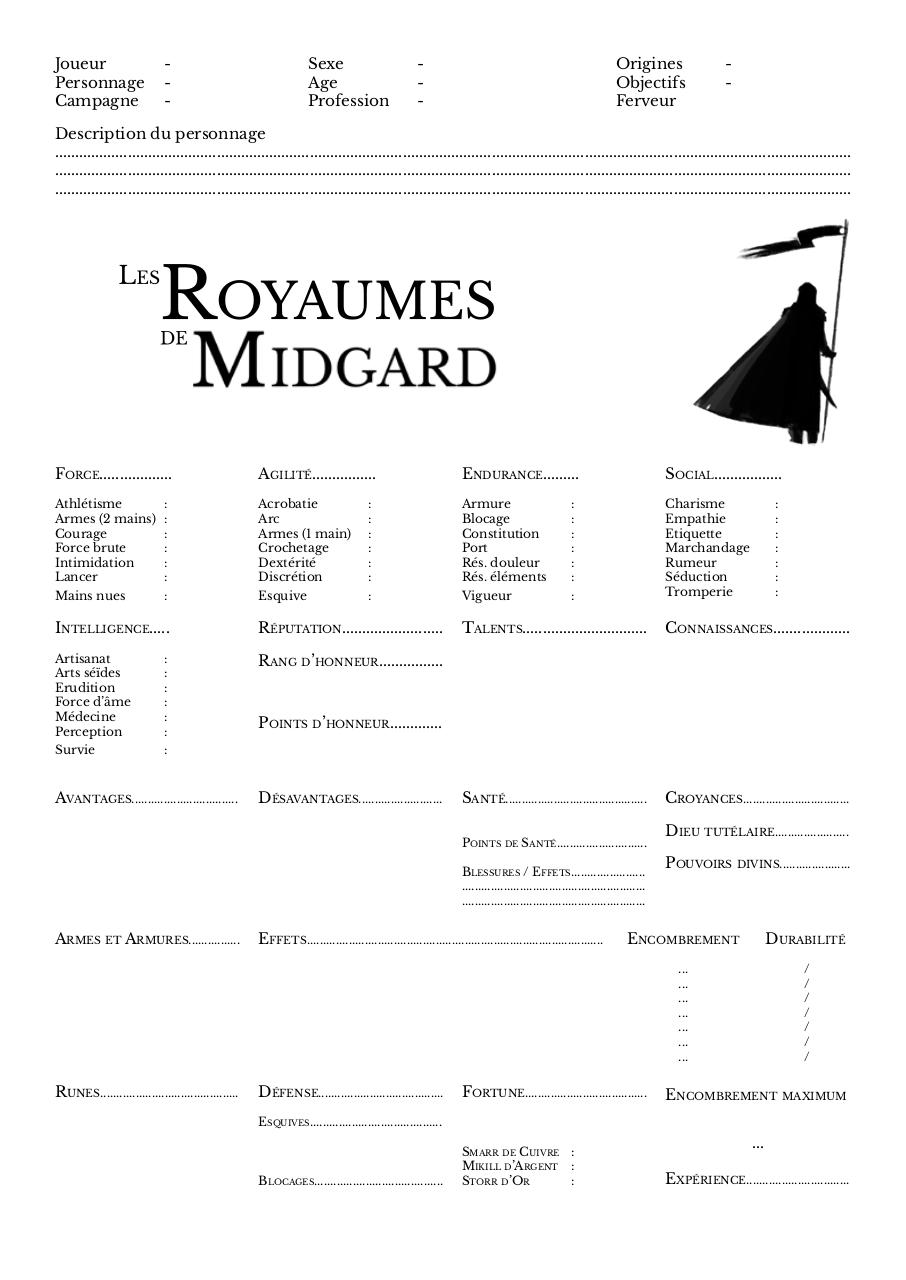 Aperçu du document Fiche perso Midgard (modifiable).pdf - page 1/1