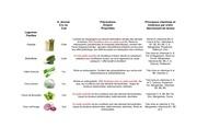 tableau legumes fruits pour le chien