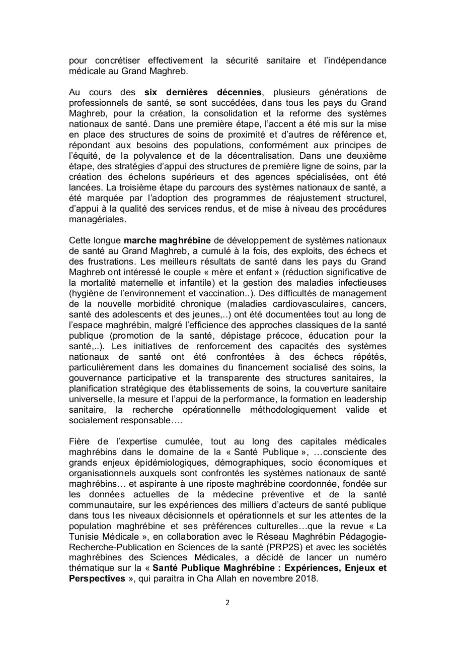 Call for Papers Tunisie Médicale.PDF - page 2/6